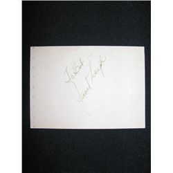 Janet Leigh Signed Card