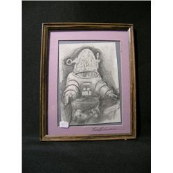Robby the Robot Signed Drawing