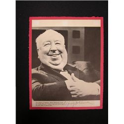Alfred Hitchcock Autographed Magazine Page