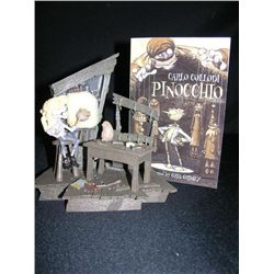 Pinocchio Geppetto's Workshop Boxed Statue