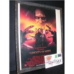 Framed Ghosts of Mars Signed Mini Poster