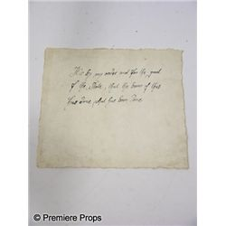 Three Musketeers Cardinal Richelieu (Christoph Waltz) Handwritten Note