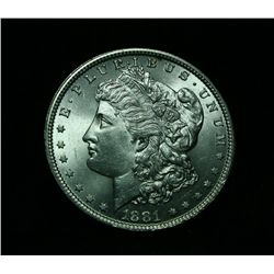 1881-p Morgan Dollar $1 Grades Uncirculated ms64/65