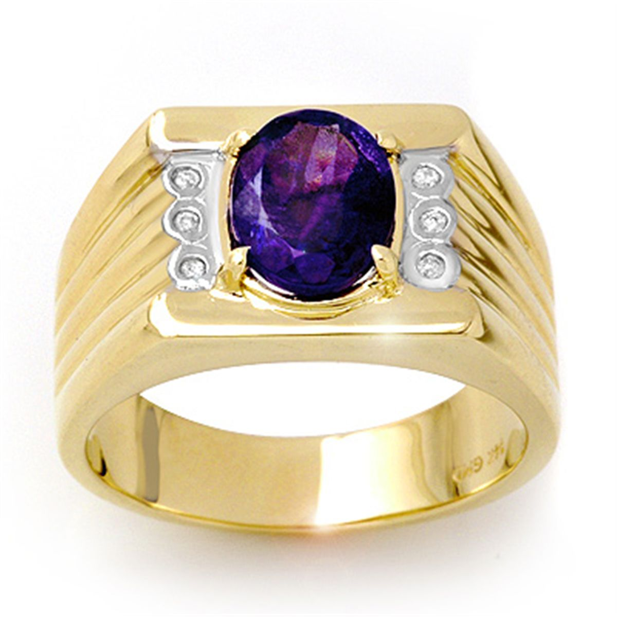 mens tanzanite gold yellow halo s men l diamond ctw ring size