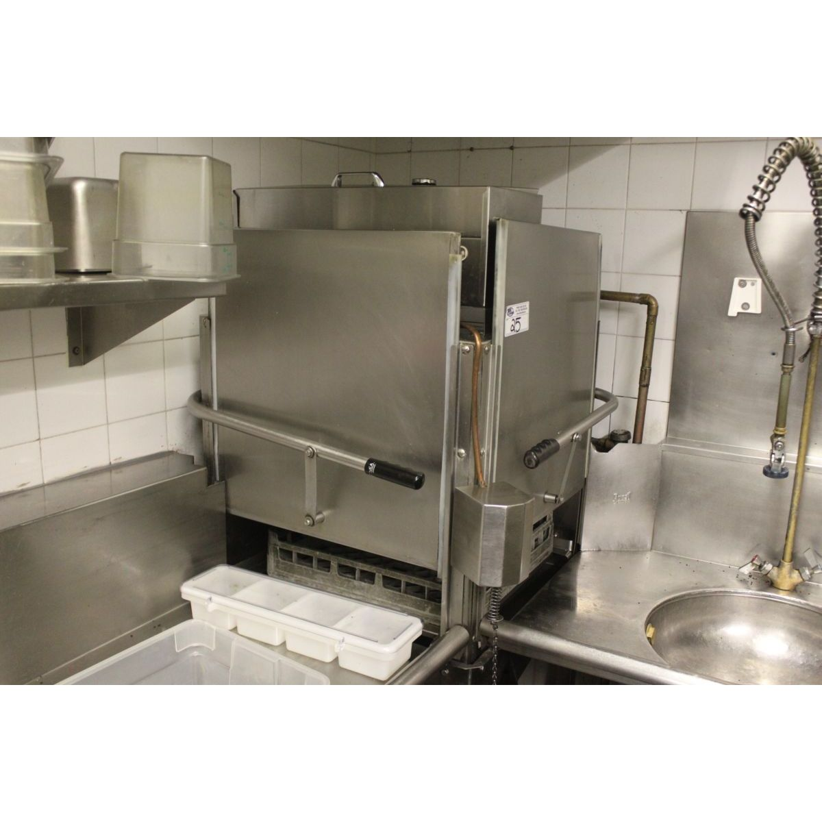 Industrial Kitchen Auctions: COMMERCIAL CORNER PASS THROUGH DISHWASHER
