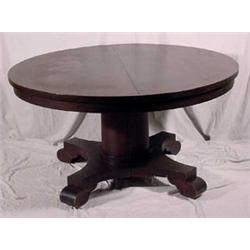 Empire Style Round Extension Dining Table W Leaves Ca 1900