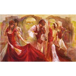 Sotskova, Lena: MIDSUMMER DREAM: Size: 34x22. Edition: /375. Giclee on canvas embellished. Descripti