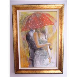 Sotskova, Lena: UNDER UMBRELLA 1: Size: 36x24. Edition: Original. Description: HAND SIGNED BY THE AR