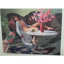 Hoffman's, Douglas: GIRL ON DIVAN: Size: Edition: 272/300 (Litho)