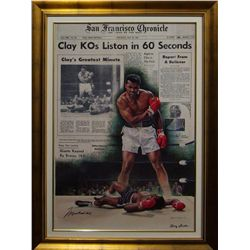 Sports: DOUG LONDON & MUHAMMED ALI:Doug London artist interpretation Muhammad Ali over Sonny Liston