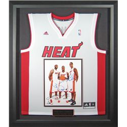 Sports: MIAMI HEAT: Miami Heat stars Lebron James, Dwyane Wade, & Chris Bosh commemorative autograph