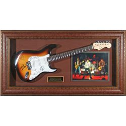 Music: ROLLING STONES: Rolling Stones autographed sunburst Fender guitar.  The signatures of Ronnie