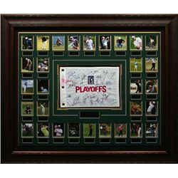 Sports: FEDEX CUP: 2011 signed Fedex Cup flag by the top 30 PGA players.