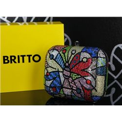 Britto, Romero: JEWELED BAG: Description: Butterfly Jeweled Handbag