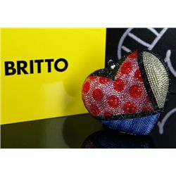 Britto, Romero: JEWELED BAG: Description: Heart Bag - Jeweled