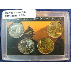 554. 24Kt Gold-plated & BU Westward Journey Nickel Series Set.