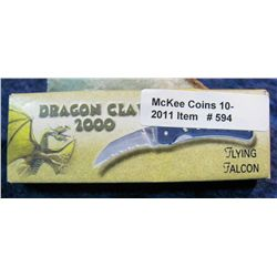 594.  Dragon Claw 2000  Flying Falcon Knife. New in box.