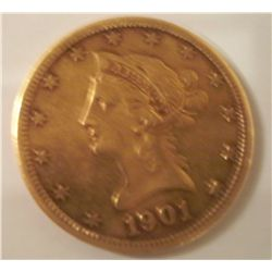 1901-S $10 Gold Liberty Head, XF