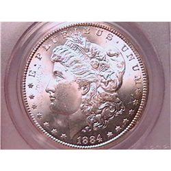 1884-CC Morgan Dollar Choice MS64 PCGS