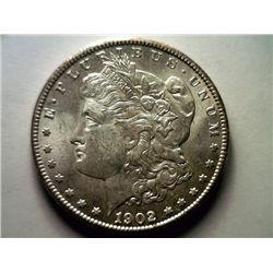 1902-OBrilliant Uncirculated Silver Morgan Dollar
