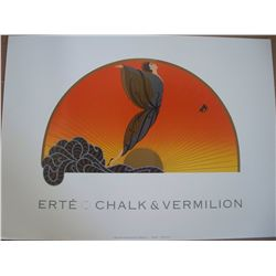 "Erte ""Sunrise"" Lithograph of Chalk and Vermilion, 28""x20"""