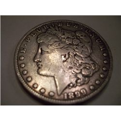 1899 Morgan Silver Dollar, F12