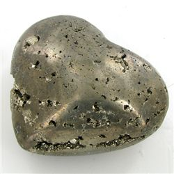 1600ct Handcarved Pyrite Heart (MIN-000118)