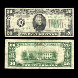 1934D $20 Note NY Scarce Nice Circulated (COI-4676)