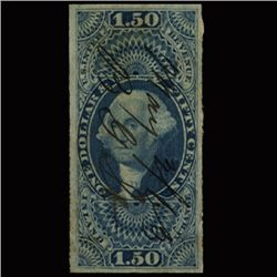 1871 RARE Portugal 120r Blue Used Stamp ERROR (STM-1342)