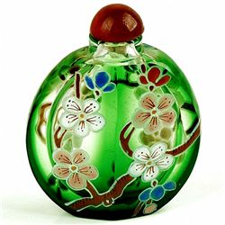 Antique Chinese Peking Glass Snuff Bottle (ANT-1423)
