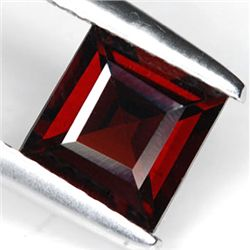 .8ct Blazing Gorgeous Red Square Garnet Gem 5 mm (GMR-0177)