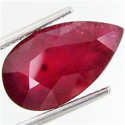 6.90ct Astonishing Natural Blood Ruby Pear (GEM-29398)