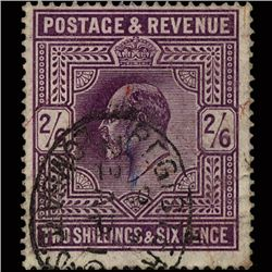 1911 RARE GB 2.5s Red Purple Used Stamp (STM-1564)