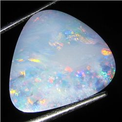 6.5ct Australian Black Opal Doublet Full Fire (GEM-36196)
