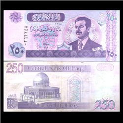 2002 Iraq 250 Dinars Crisp Uncirculated Note (CUR-05902)