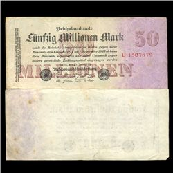 1923 Germany 50000000 Mark Note Hi Grade Rare (CUR-05661)