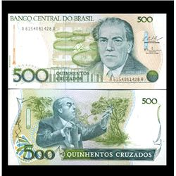 1987 Brazil 500 Cruzados Crisp Uncirculated Note (CUR-05915)