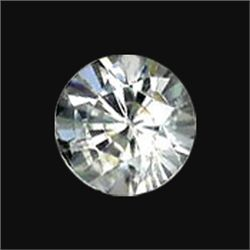 5mm White Zircon Round Diamond Cut (GMR-1038)
