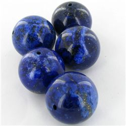 225ct Natural Lapis 18mm Round Bead Parcel (GEM-37501)