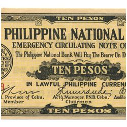 1941 Philippines 10 P Guerrilla Note WW2  (COI-960)