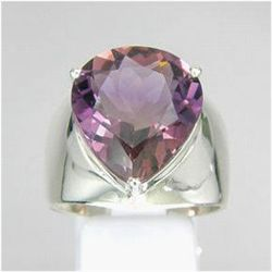 65.65ct Sterling Pear  Ring Size 10 Bi-Color Ametrine (JEW-1461)
