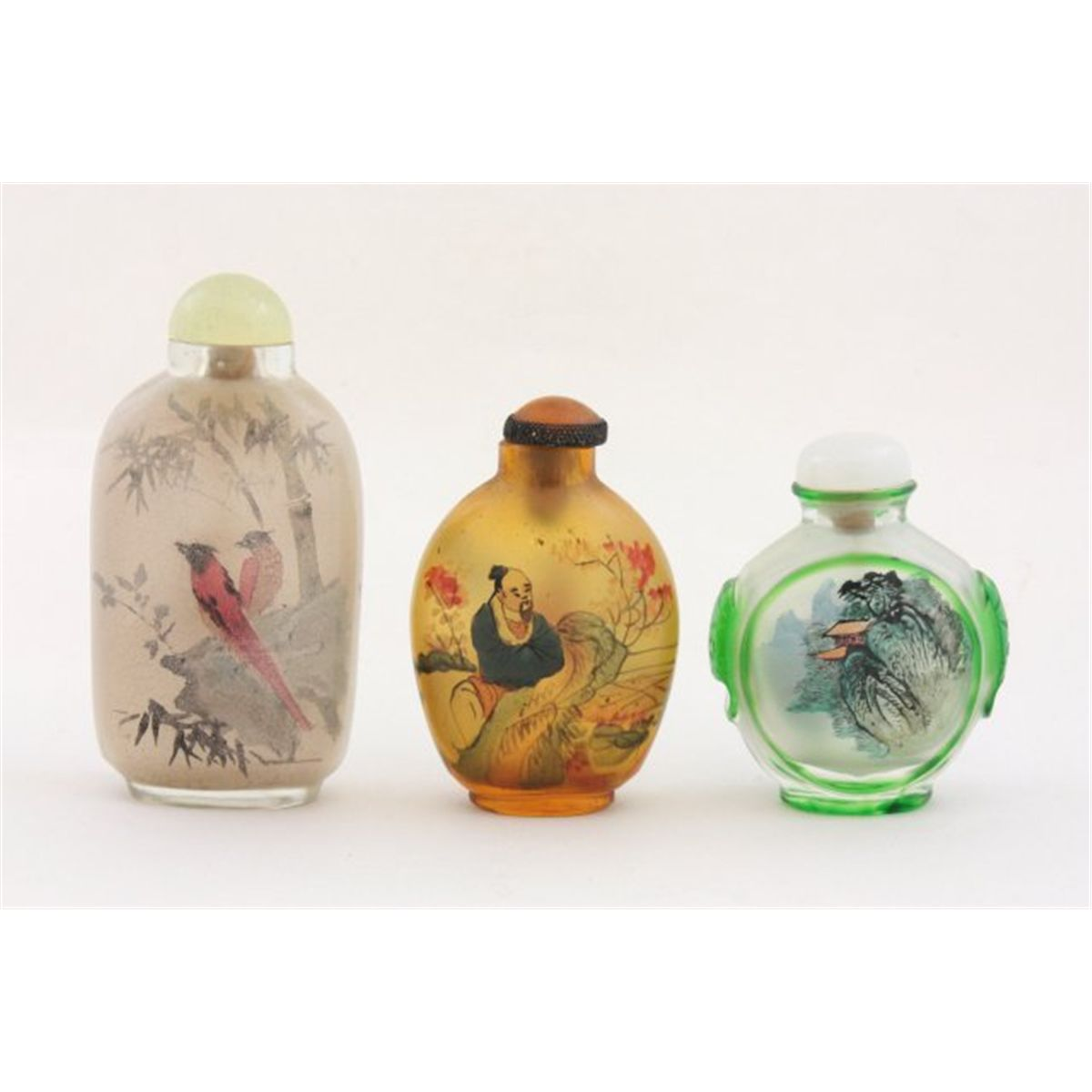 Glass bottles asian