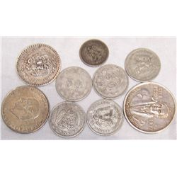 Assorted Silver Mexican Coins (2.5 OZ. of Pure Mexican Silver)