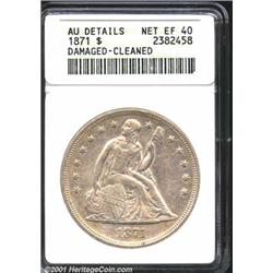 1871 S$1--Damaged, Cleaned--ANACS.