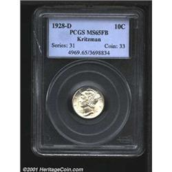 1928-D 10C MS65 Full Bands PCGS.