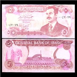 1992 Iraq 5 Dinars Crisp Uncirculated Note (CUR-05907)