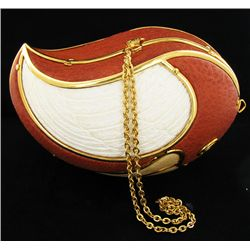 Handmade Ostrich Egg Clutch Handbag Parrot Shaped (ACT-296)
