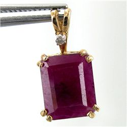 9twc Ruby Diamond 10k Pendant (JEW-3637)