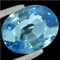 6.80ct  Brilliant Clean Blue Zircon Natural (GEM-35143)