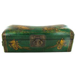 Chinese Leather Covered Pillow Box (ANT-1926)